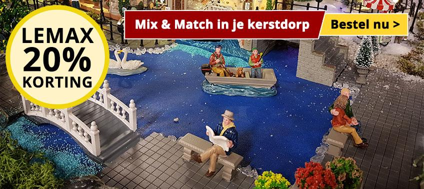 Mix & Match in je kerstdorp