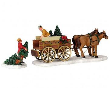 Lemax Christmas Tree Wagon
