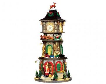 Lemax Christmas Clock Tower + 4,5 Volt Adapter