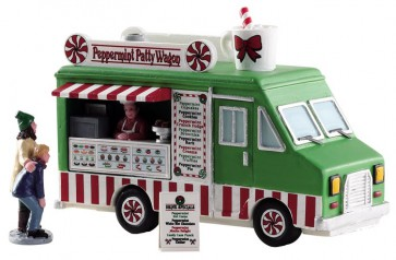 Lemax Peppermint Food Truck, Set of 3
