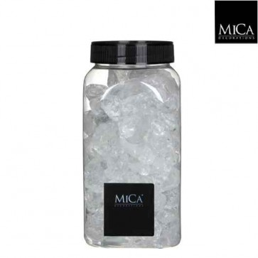 Decoratiesteentjes  glas groot - transparant
