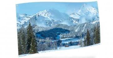 My Village Achtergrond Doek - Berglandschap 150X75cm