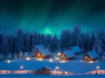 My Village Achtergrond Doek - Noorderlicht 76X56cm