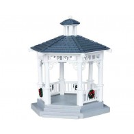Lemax Plastic Gazebo With Decorations