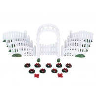 Lemax Plastic Arbor & Picket Fences W/Decorations