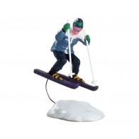 Lemax Skiing Girl