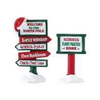 Lemax North Pole Signs