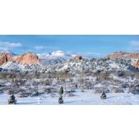 My Village Achtergrond Doek - Colorado 150X75cm
