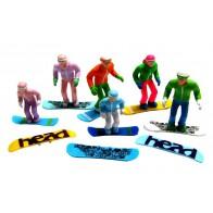 Jägerndorfer Figuren Staand Snowboard - 6St