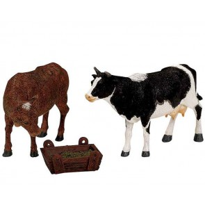 Lemax Feeding Cow & Bull
