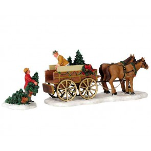 Lemax Christmas Tree Wagon