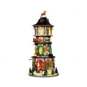 Lemax Christmas Clock Tower + 4,5 Volt Adapter