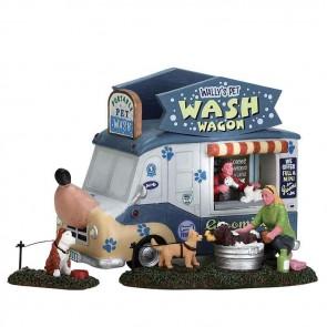 Lemax Wally'S Pet Wash Wagon