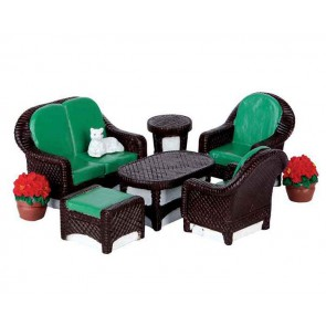 Lemax Wicker Lawn Set