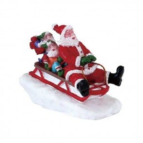 Lemax Sledding With Santa