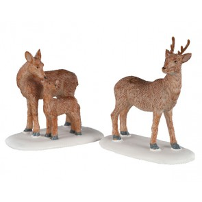 Lemax Deer Family
