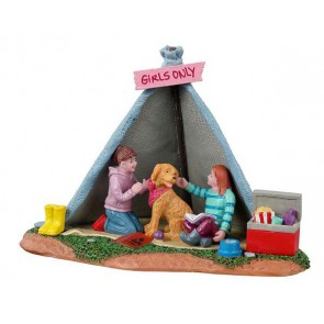 Lemax Girls Backyard Camping