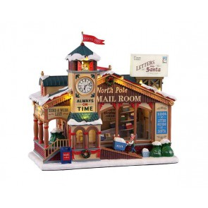Lemax North Pole Mail Room + 4,5 Volt Adapter