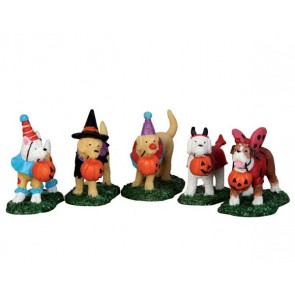 Lemax Trick Or Treating Dogs