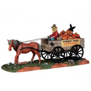 Lemax Pumpkin Wagon