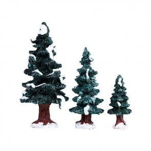Lemax Christmas Evergreen Tree 3 pc
