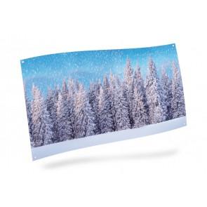 My Village Achtergrond Doek - Sneeuwbos 150X75cm