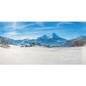 My Village Achtergrond Doek - Alpen 150X75cm