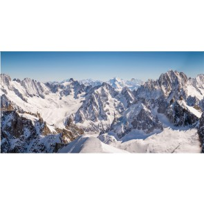 My Village Achtergrond Doek Bergtoppen  x l 300 x 150 cm