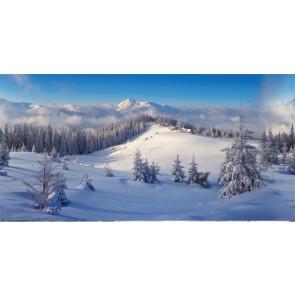 My Village Achtergrond Doek Winterbos   x l 300 x 150 cm