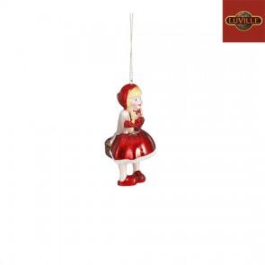 Efteling Kersthanger Roodkapje glas rood