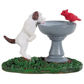 Lemax Bird Bath Dog Fountain