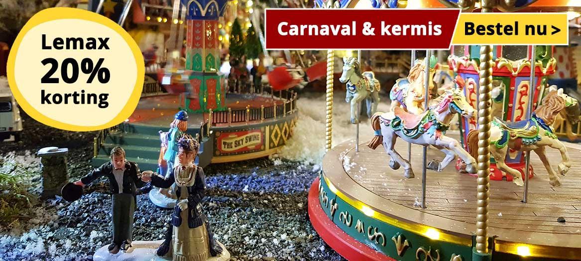Lemax Kermis en Carnaval | 20% Korting