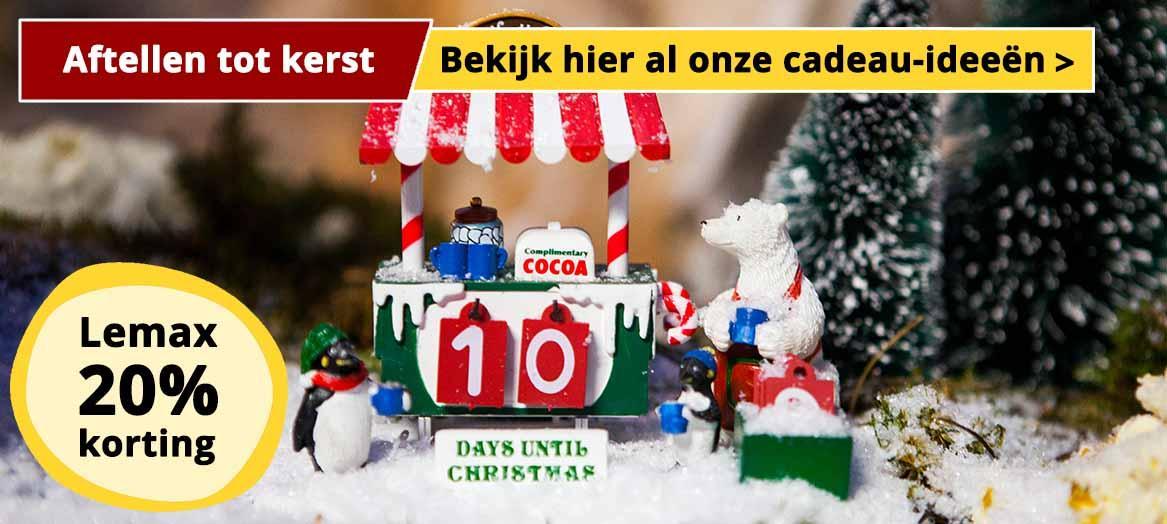 Lemax 20% korting op de leukste kerstcadeaus