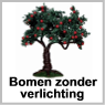 Bomen zonder verlichting